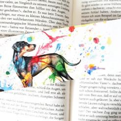 """Lesezeichen """"Bunter Hund"""" von Aram und Abra"""