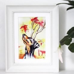 """Postkarte """"Herbst"""" von Aram und Abra"""