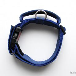 Julius K9 Halsband mit Griff blau