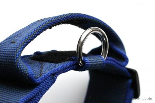 Halsband mit Griff, Hetzhalsband von Julius K9, blau, Detail - günstig online kaufen bei Hundesport Nubi