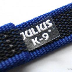K9 Sportleine gummiert mit Handschlaufe_blau