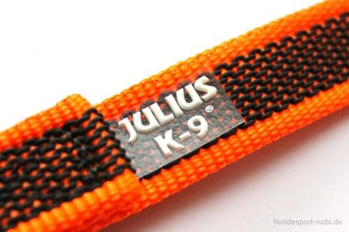 Gummierte Leine mit Handschlaufe in neon orange, Julius K9
