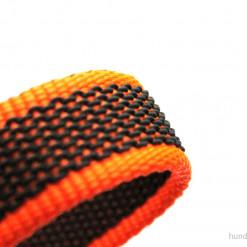 K9 Sportleine gummiert mit Handschlaufe_orange