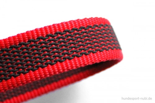 K9 Sportleine gummiert mit Handschlaufe_rot