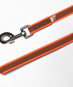 Gummierte Leine mit Handschlaufe in neon orange, Julius K9, 2m - Leinen günstig online kaufen