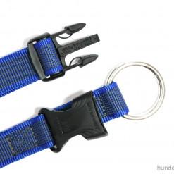 Halsband Julius K9 blau 39 -65 cm Verschluss - Hundesport Nubi