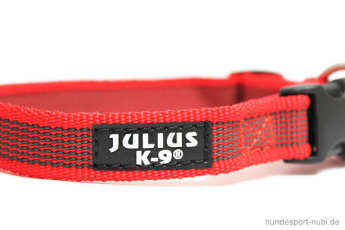 Halsband Julius K9 rot - Hundesport Nubi