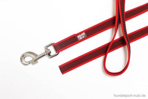 Leine Julius K9 rot 2m ohne Schlaufe - Hundesport Nubi - Leinen günstig online kaufen