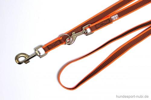 Leine verstellbar Julius K9 neon orange - Hundesport Nubi - Leinen günstig online kaufen
