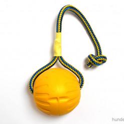 Starmark Ball mit Seil gelb - L - Hundespielzeug günstig online kaufen bei Hundesport Nubi