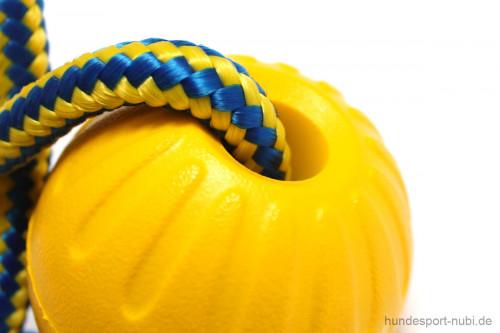 Starmark Ball mit Seil gelb - Swing n Fling M - Hundespielzeug - Hundespielzeug günstig online kaufen bei Hundesport Nubi