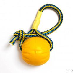 Starmark Ball mit Seil gelb - Swing n Fling M - Hundespielzeug günstig online kaufen bei Hundesport Nubi