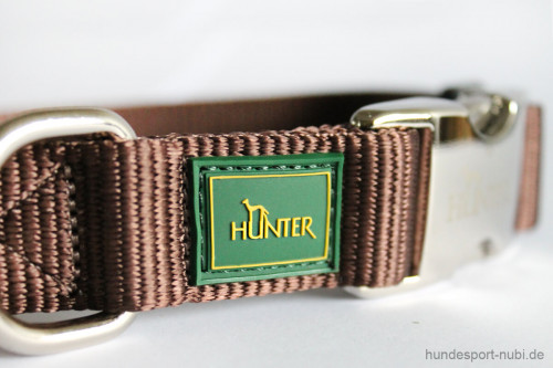 Halsband Hunter Vario Basic Alu-Strong - braun - Marke Logo Hunter - Hundesport Nubi