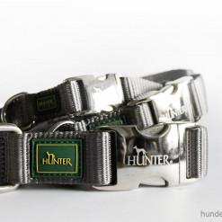 Halsband Hunter Vario Basic Alu-Strong - grau - Hundesport Nubi
