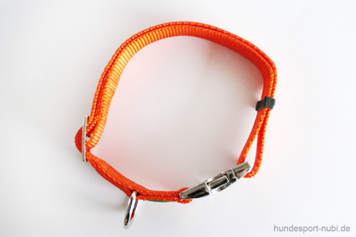 Halsband Hunter Vario Basic Alu-Strong - orange - Detail - Hundesport Nubi
