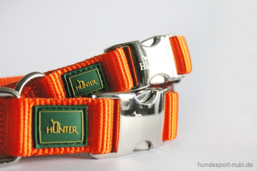 Halsband Hunter Vario Basic Alu-Strong - orange - Hundesport Nubi