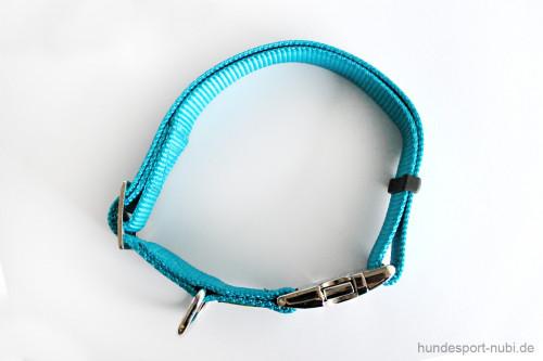 Halsband Hunter Vario Basic Alu-Strong - petrol - Detail - Hundesport Nubi
