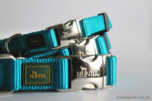 Halsband Hunter Vario Basic Alu-Strong - petrol - Hundesport Nubi