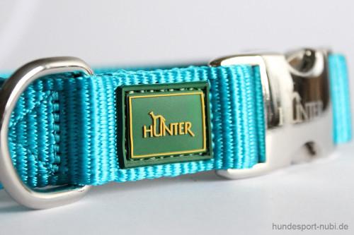 Halsband Hunter Vario Basic Alu-Strong - petrol - Marke Logo Hunter - Hundesport Nubi