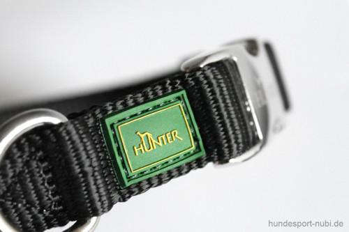Halsband Hunter Vario Basic Alu-Strong - schwarz - Marke Logo Hunter - Hundesport Nubi