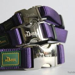 Halsband Hunter Vario Basic Alu-Strong - violett lila - Hundesport Nubi