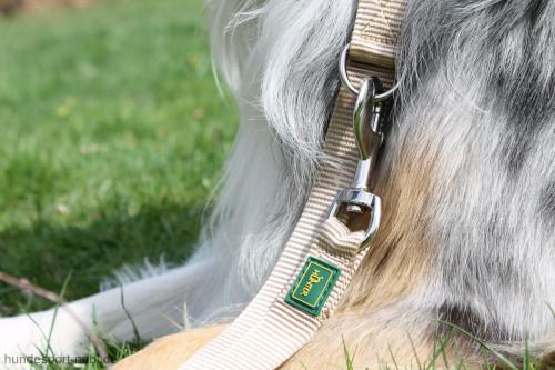 Hunter verstellbare Leine beige - Detail - günstig kaufen bei Hundesport Nubi