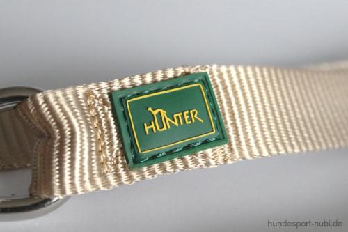 Leine Hunter - verstellbare Führleine - Leinen günstig online kaufen - Logo Marke Hunter - beige - Hundesport Nubi
