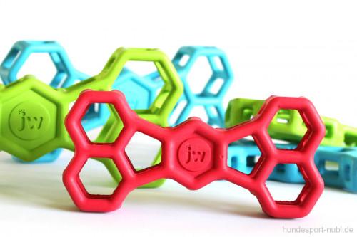 Hundespielzeug Knochen - JW Pet Hol-EE Bone verschiedene Farben - Gitter aus Naturkautschuk, Gummi - günstig online kaufen bei Hundesport Nubi