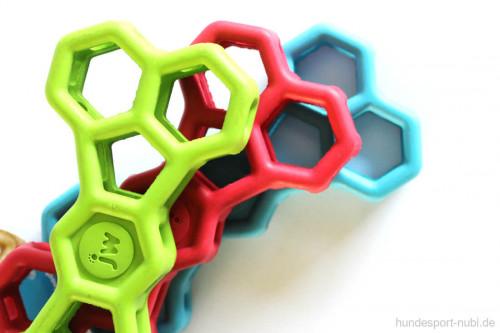 Hundespielzeug Knochen - Logo JW Pet Hol-EE Bone - Farben - Gitter aus Naturkautschuk, Gummi - günstig online kaufen bei Hundesport Nubi