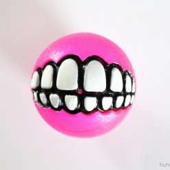 Rogz Grinz Ball mit Zähnen - klein, pink - Hundespielzeug günstig online kaufen bei Hundesport Nubi