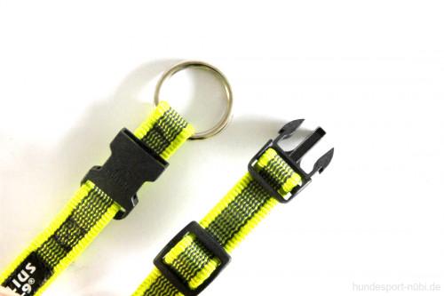 Halsband neon gelb - Signalfarbe - Julius K9 - 27 - 42 Halsumfang - Verschluss - günstig online bestellen bei Hundesport Nubi