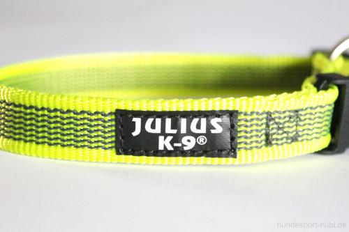 Halsband neon gelb - Signalfarbe - Julius K9 - 27 - 42 Halsumfang - günstig online kaufen bei Hundesport Nubi
