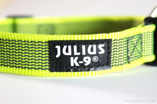 Halsband neon gelb - Signalfarbe - Julius K9 - 39 - 65 Halsumfang - günstig online kaufen bei Hundesport Nubi