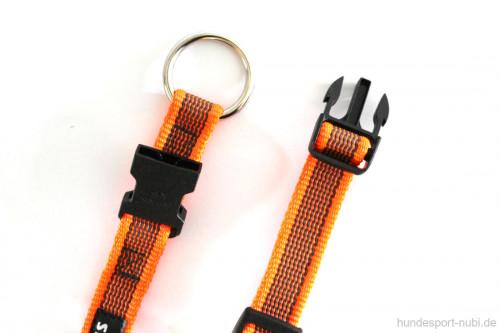 Halsband neon orange - Signalfarbe - Julius K9 - 27 - 42 Halsumfang - Verschluss - günstig online kaufen bei Hundesport Nubi