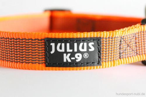 Halsband neon orange - Signalfarbe - Julius K9 - 39 - 65 Halsumfang - billig online kaufen bei Hundesport Nubi