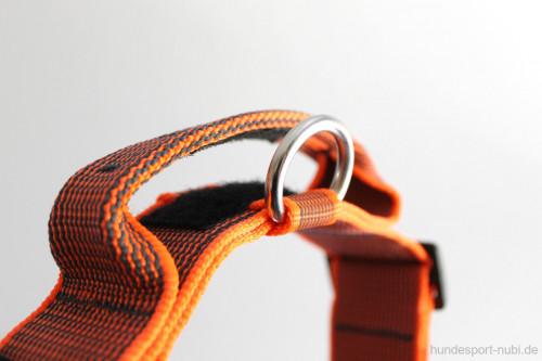 Hetzhalsband, Halsband mit Griff in neon orange, Julius K9 - Haltegriff - günstig online kaufen bei Hundesport Nubi