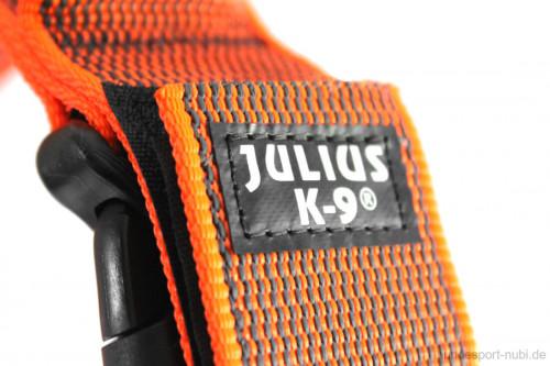 Hetzhalsband, Halsband mit Griff in neon orange, Julius K9 - Logo - günstig online kaufen bei Hundesport Nubi