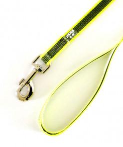 Leine mit Schlaufe 1,2m neon gelb, gummiert - Julius K9 - günstig online kaufen bei Hundesport Nubi