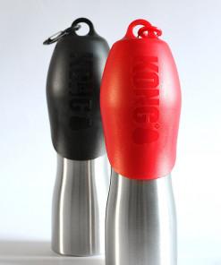 Hunde Trinkflasche mit Napf, Metall, von KONG - günstig online bestellen