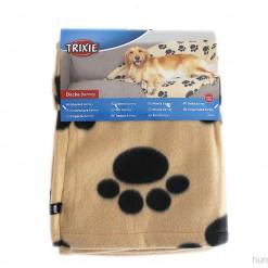 Hundedecke aus Fleece mit Pfoten Motiv, Trixie - günstig online kaufen