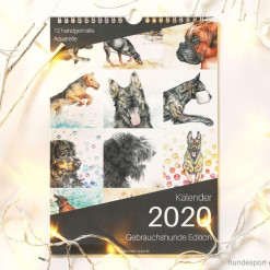 Kalender 2020 - Wandkalender DIN A4 - Aquarell - günstig online bestellen bei Hundesport Nubi