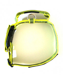 Halsband mit Griff, Hetzhalsband in neon gelb, Julius K9 - robuste Qualität günstig online bestellen bei Hundesport Nubi