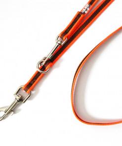 Leine neon orange, verstellbar 2,2 Meter, gummiert - Julius K9 - günstig online kaufen bei Hundesport Nubi