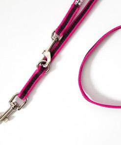 Leine pink, verstellbar 2,2 Meter, gummiert - Julius K9 - günstig online kaufen bei Hundesport Nubi