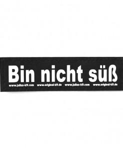 Bin nicht süß Sticker, Klettsticker für Halsband, Geschirr, Julius K9 - online kaufen bei Hundesport Nubi