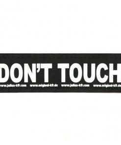 Don't touch Nicht anfassen Sticker mit Klettverschluss für Halsband, Geschirr, Julius K9 - online kaufen bei Hundesport Nubi