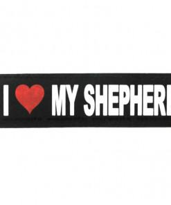 I love my Shepherd Schäferhund Klettsticker für Halsband, Geschirr, Julius K9 - online kaufen bei Hundesport Nubi