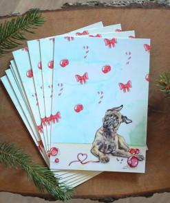 Hunde Weihnachtskarte Malinois Weihnachten - günstig online kaufen bei Hundesport Nubi