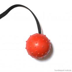 Ball mit Seil, orange, Schweikert - Hundesport Shop